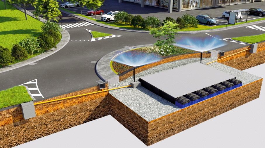 Geocycle: Die multifunktionale Lösung für die Widerstandsfähigkeit der urbanen Infrastruktur der Kreisverkehrsinseln