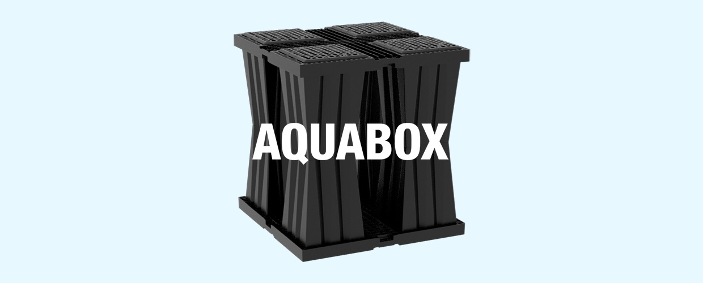 Das Aquabox-System wurde für eine effiziente Regenwasser-Rückhaltung entwickelt und eignet sich für verschiedene Anwendungen wie Infiltrations-,  Rückhalte- oder Dämpfungssysteme.