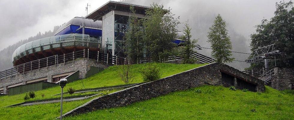 Vorbepflanzte Schrägdach-Begrünung mit COMPLETA Pflanzschalen