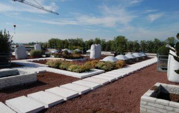 Dachgarten mit DRAINROOF und intensiver Dachbegrünung und nachhaltigem Wassermanagement